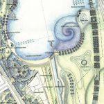 天と地をつなぐランドスケープ 渦展 / 上山良子 at 建築家会館 本館1階 大ホール